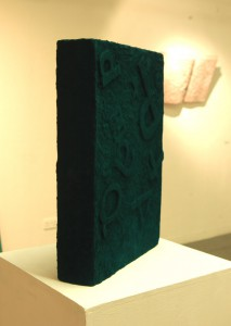 Book sculpture, mixed media