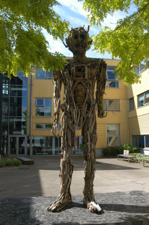 Greenman in Yellow Square UEL, Docklands Campus
