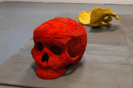 Skull part of Vanitas installation