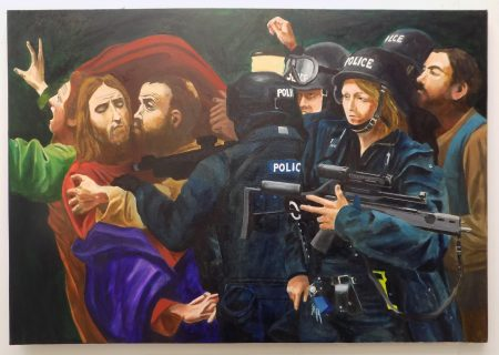Christ arrested by the arm response team.